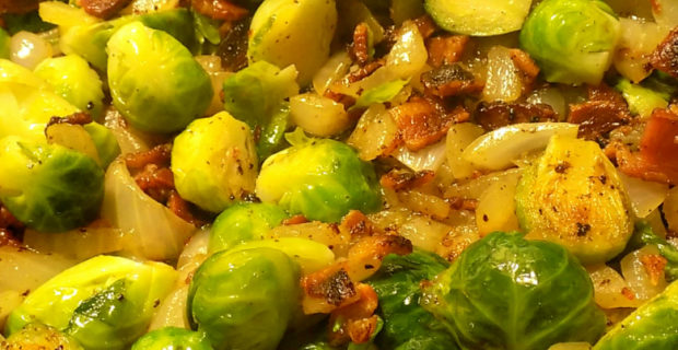 How to Make Irresistible Brussels Sprouts With Bacon and Onions